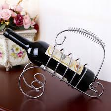 silver bronze wine bottle holder stainless steel racks storage