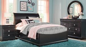Black Sleigh Bed Twin Bedroom Sets