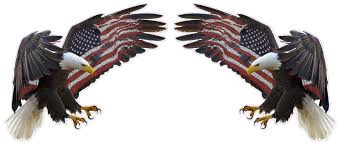 Bald Eagle On Flag American Eagle American Flag Pair Decal Nostalgia Decals