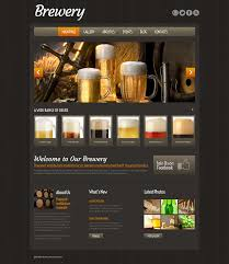 Home Brew Store by Website Template 51974 Brewery Homebrew Custom Website Template