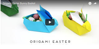 easter bunny diy origami easter bunny baskets gathering beauty
