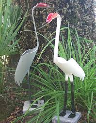 Pvc Patio Furniture Florida - pvc pipe birds the cranes are approx 26 inches tall and are