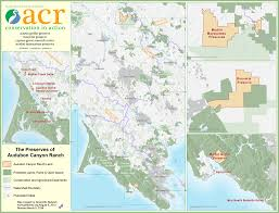 Marin Maps Map Of Acr Preserves Audubon Canyon Ranch
