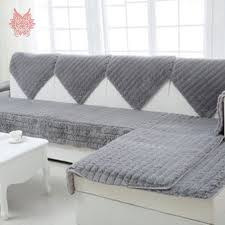 housse de canapé grise moderne style chameau blanc gris longue fourrure housse de