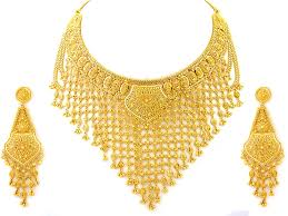 gold set india products indian jewellery 112 90g 22kt gold heavy necklace