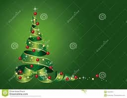 christmas card christmas tree from ribbon with christmas balls