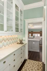 Blue Kitchen Backsplash by White Chevron Kitchen Backsplash Tiles Design Ideas