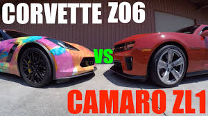 camaro zl1 vs corvette camaro zl1 vs corvette z06 who s faster