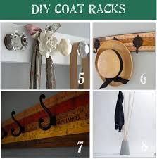 glass door knob coat rack 20 diy coat rack ideas tip junkie