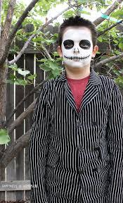 Jack Skellington Halloween Costume 15 Minute Jack Skellington Halloween Makeup Happiness Homemade