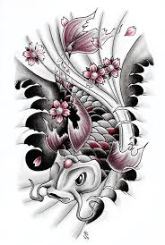 geisha and koi fish tattoo design by hamdoggz on deviantart