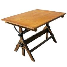 Wood Drafting Table Plans Furniture Fixed Antique Drafting Table With Lighting Home Office