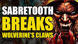 wolverine s claws sabretooth breaks wolverine s claws wolverine vs sabertooth vol 1