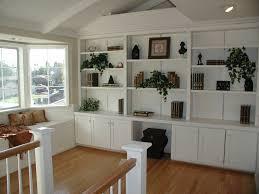 home design built in bookshelves with desk industrial large
