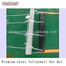 Backyard Volleyball Nets Outdoor Volleyball Net Set Aluminum View Volleyball Platinum