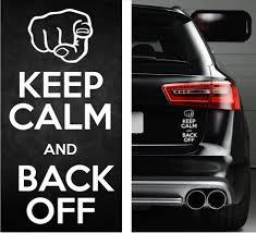 jdm honda sticker keep calm back off funny sticker vinyl decal kcco truck jdm honda