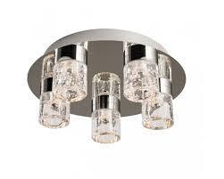 61358 imperial ip44 5 x 4w flush bathroom ceiling lamp