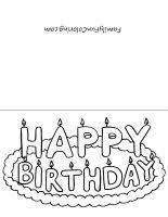 printable birthday card coloring page first grade ideas