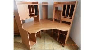 meuble de bureau d occasion meuble de bureau d angle marron clair occasion chauché 85140