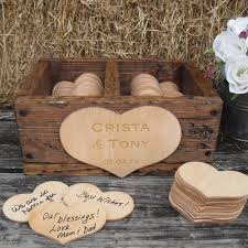 engravable wedding guest book guest book rustic wedding barnwood style personalization item