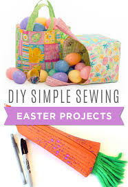 d i y simple sewing easter projects