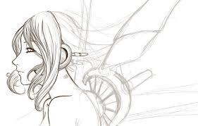 wings sketch by blue wolf walking on deviantart