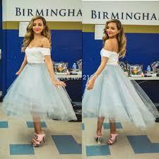 aliexpress com buy off the shoulder grayish blue high low prom