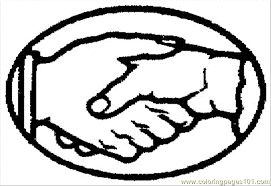 shake the hands coloring page free body coloring pages