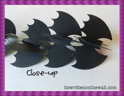 How To Make Bats For Halloween by It U0027s Written On The Wall Halloween Decor Bat Garland Super Simple