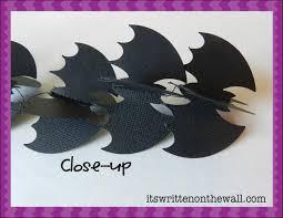 it u0027s written on the wall halloween decor bat garland super simple