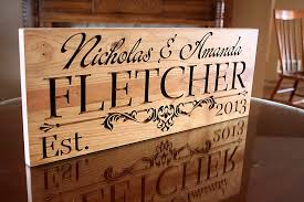 Personalized Wood Signs Home Decor Family Name Sign Personalized Last Name Wood Sign Custom