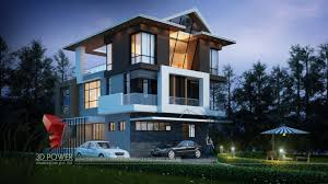 luxurious 3d modern bungalow rendering u0026 elevation design by 3d
