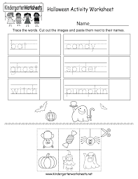 Halloween Printables For Kindergarten by Free Printable Halloween Activity Worksheet For Kindergarten