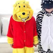 cute zebra onesies costume halloween pyjamas kids bear cosplay