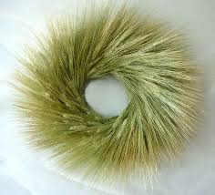bearded green wheat wreath 19 inch
