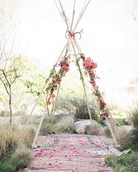 wedding arches chuppa picture of teepee style wedding chuppah with antlers and bold flowers