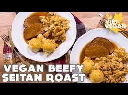 vegan beefy seitan roast thanksgiving collab