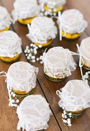 honey jar wedding favors wedding favor ideas we borrowed blue