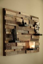 zspmed of wooden wall decor on interior designing home