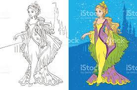 colouring book princess castle stock vector art 503170120