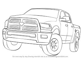 How To Draw A Bed Coloring Pages How To Draw A Trucks How To Draw A Lifted Trucks