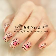 aliexpress com buy new 2013 cute pink leopard print fake nails
