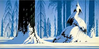 eyvind earle christmas cards oh by the way beauty winter paintings eyvind earle