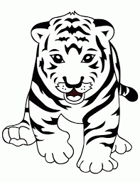 baby tiger pictures to color free coloring pages on art coloring