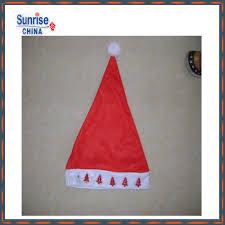christmas wholesale custom decorated red white felt hat shape wine