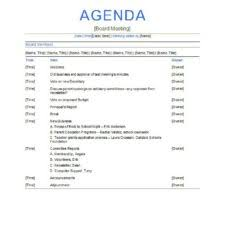 nice sales meeting agenda template with blue letter head and