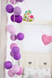 cotton cable string lights in shades of purple with 35 lights