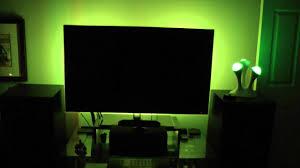 my tv accent lighting setup