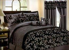 Silver Queen Comforter Set Wendy Silver Black 7pc Comforter Set Bed In A Bag New King Size