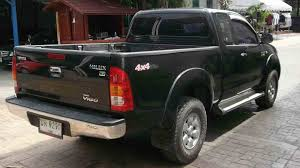 used hilux vigo 4 4 extra cabin manual 2005 rear side view